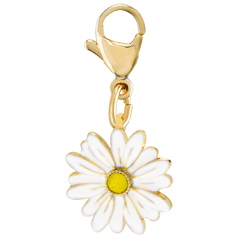 DG5082 Gold Daisy Dangle with Swarovski Crystal